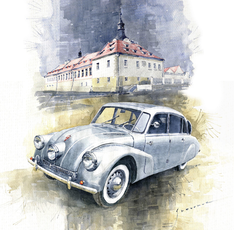 Malba Veteráni pod zámkem, Tatra 87